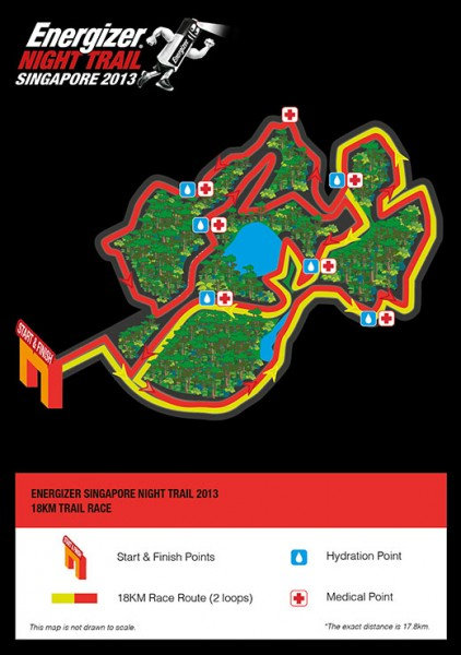 energizer trail run 18km route