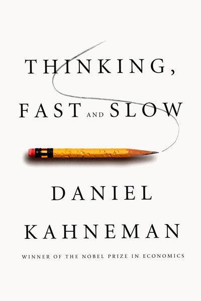 Обложка книги Даниэля Канемана Thinking, fast and slow