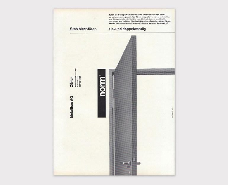 Рекламный макет компании Norm. Карл Бернард Граф, 1963