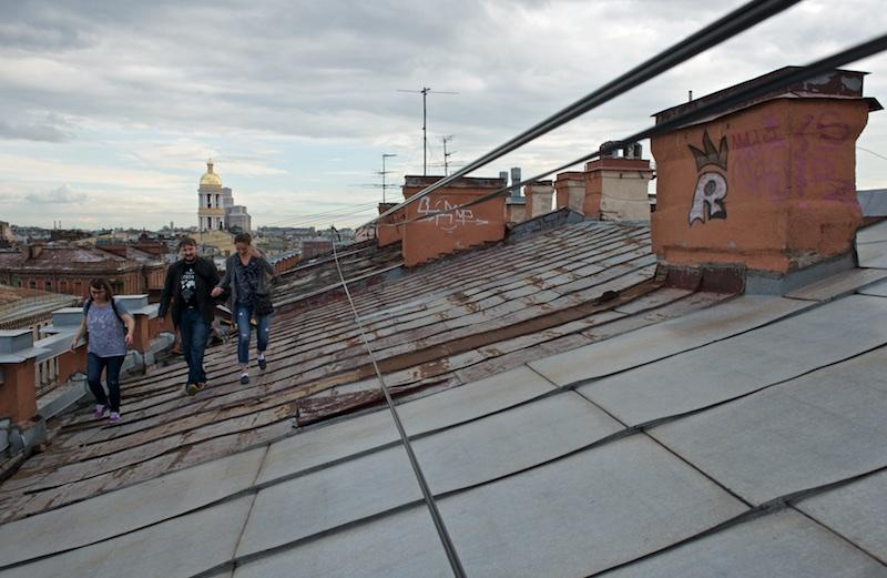 Прогулка по крышам Питера