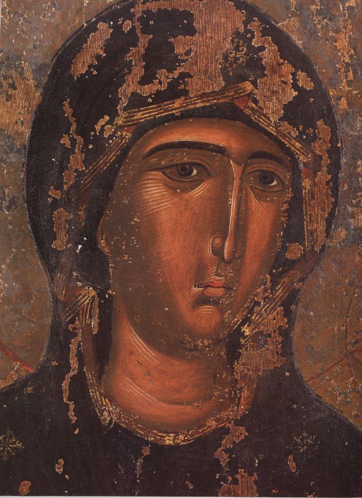 П. 3. Лик Богородицы  (Фрагмент иконы 15в.)