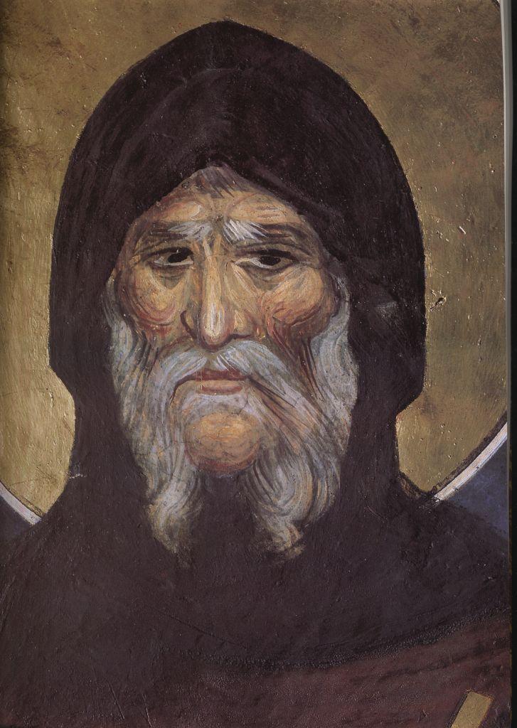 П.13.Св.Антоний фреска кафоликона1363г. (Лик)