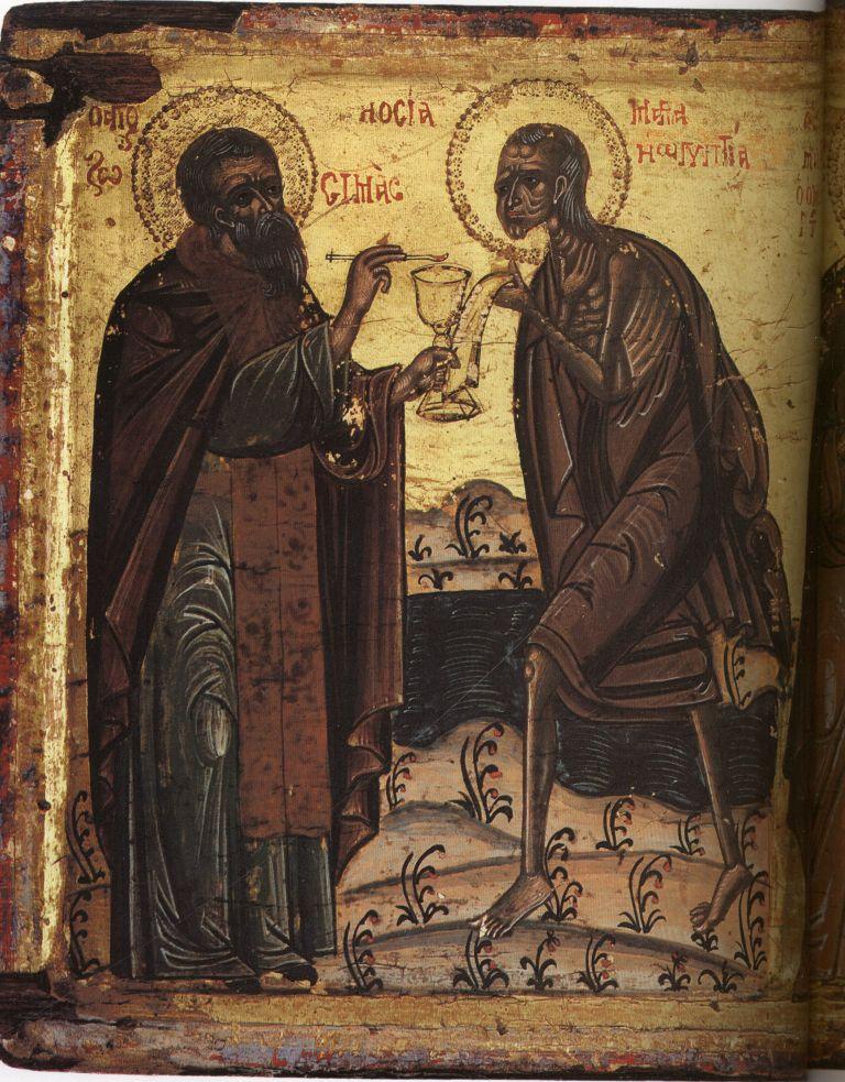 Па.110-1. Св. Зосима, Мария Египетская, Максим Исповедник, М