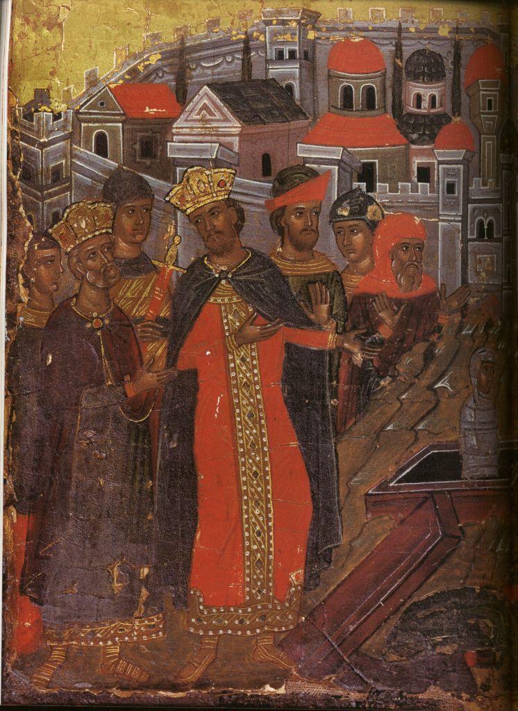 Па.124-2. клеймо Св. Георгий Победоносец в житии(129 на 96)