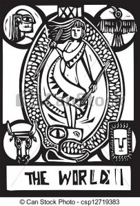 World Tarot Card.