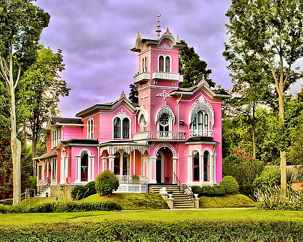 Pink House Front