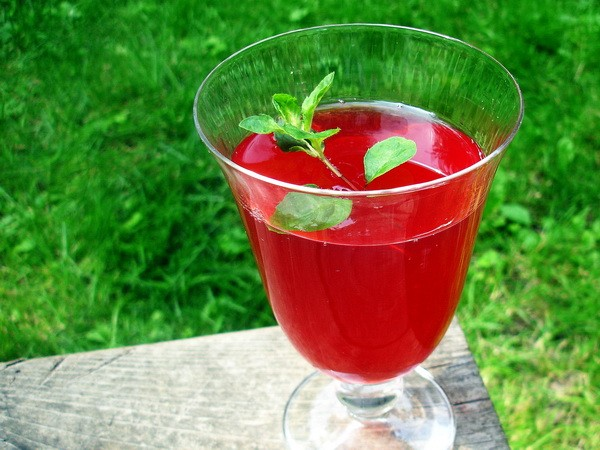Cranberry Drink glass