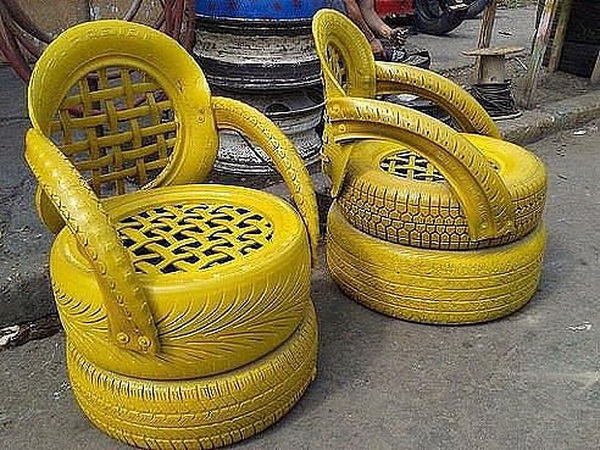 Old Tire Chairs