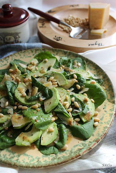 салат, французская кухня, шпинат, авокадо