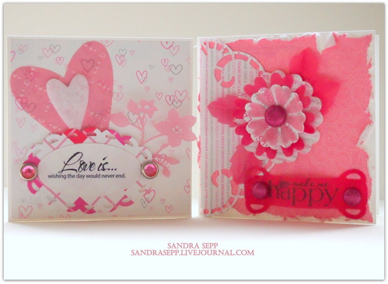 Pink Valentine day cards 005