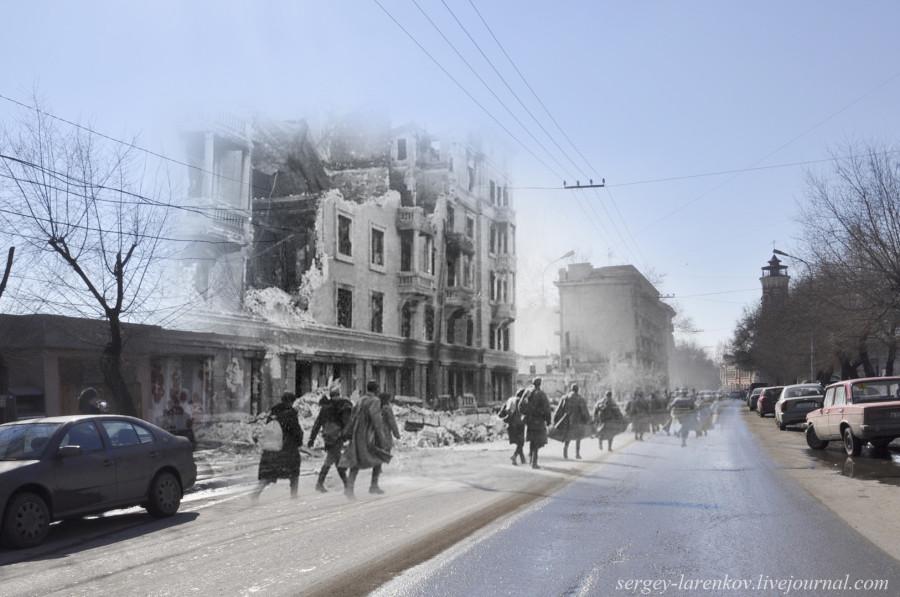 30.Сталинград 1943-Волгоград 2013. Советские бойцы на Коммунистической улице