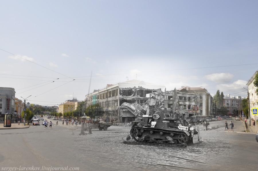 12.Smolensk 1941-2013 Victory Square tanque destruido T-26