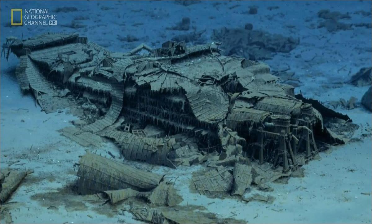 Реальные фото затонувшего титаника