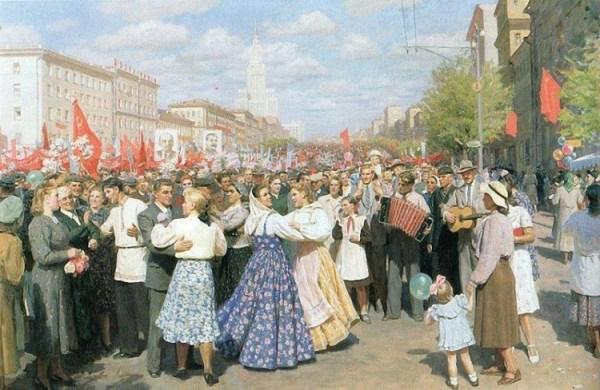 Юрий Кугач. 1 мая 1952