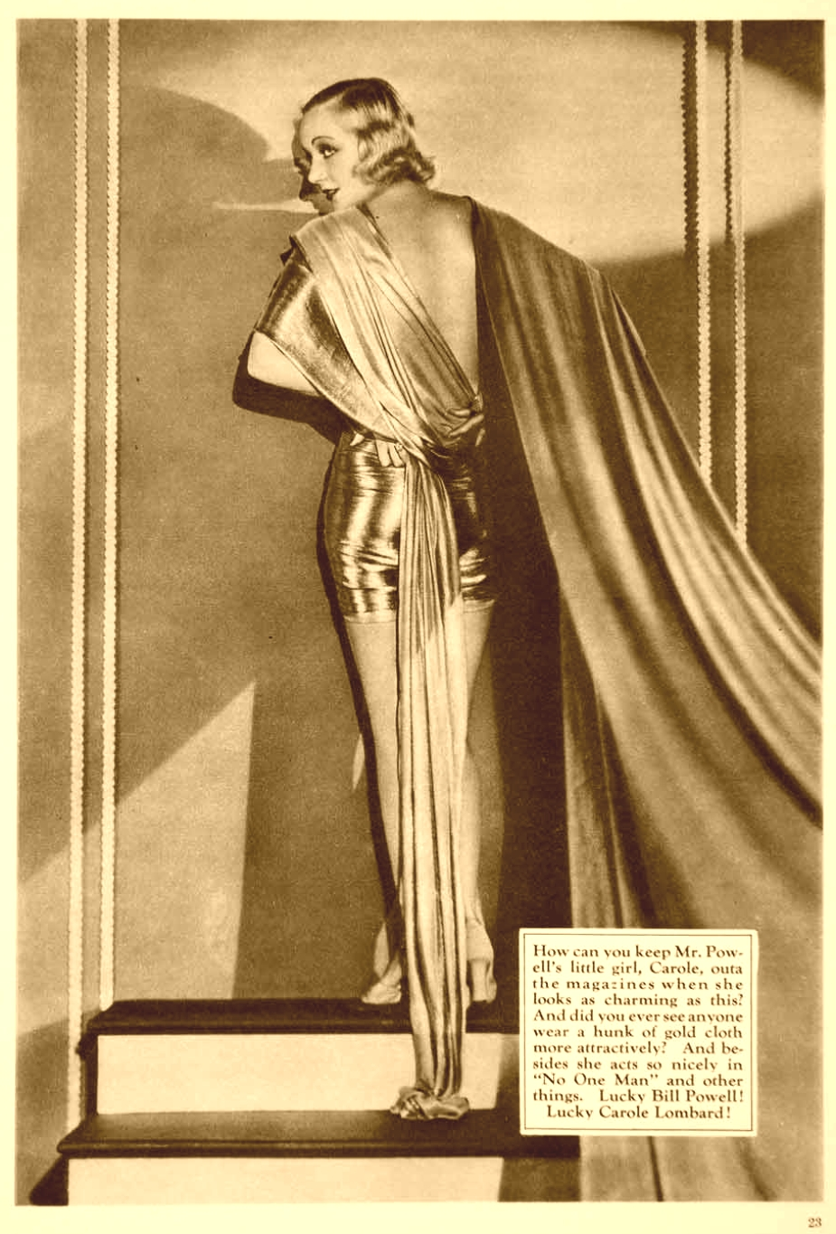 carole lombard fan magazine 1932 gold large sepia