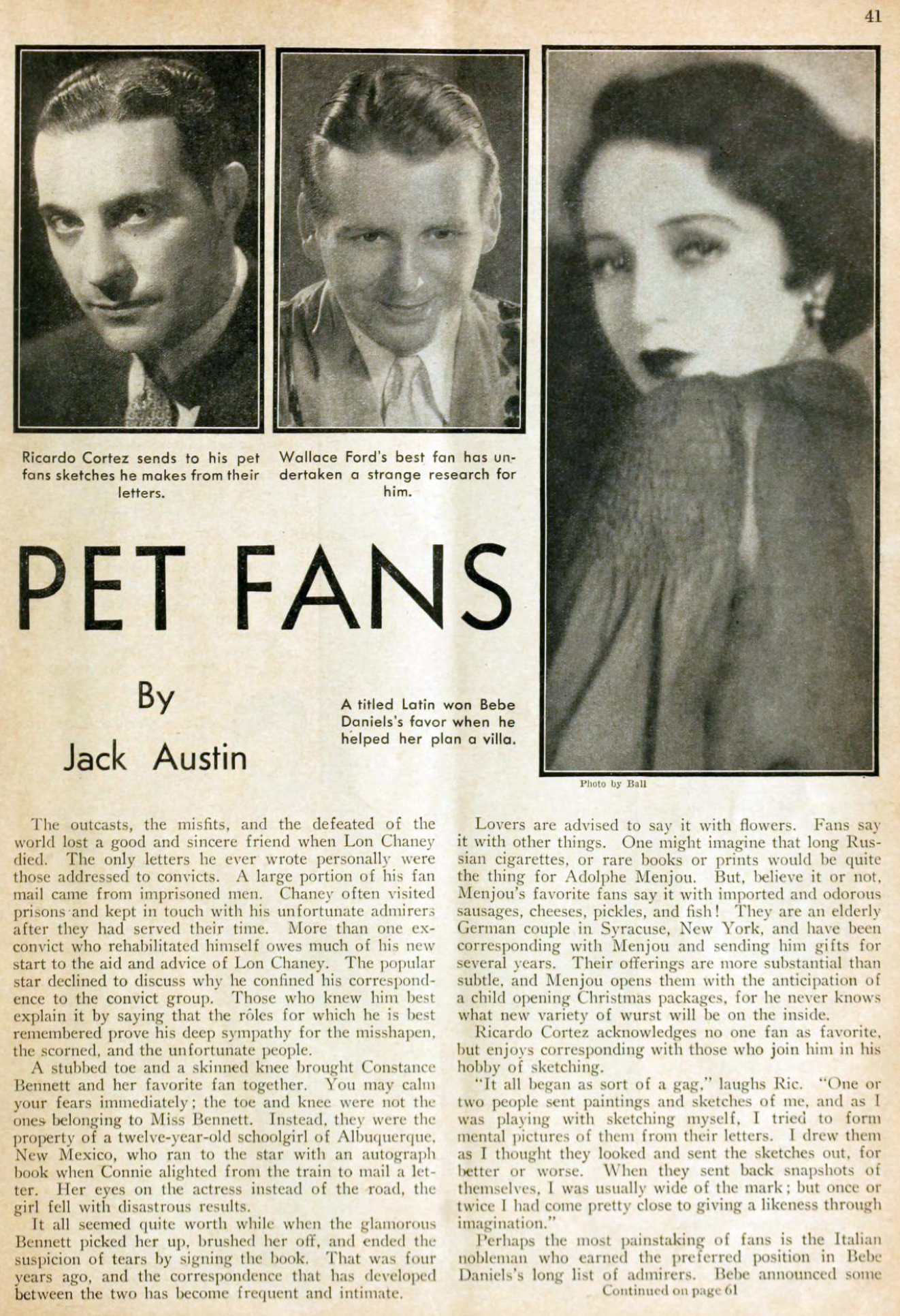carole lombard picture play dec 1932 their pet fans 01a
