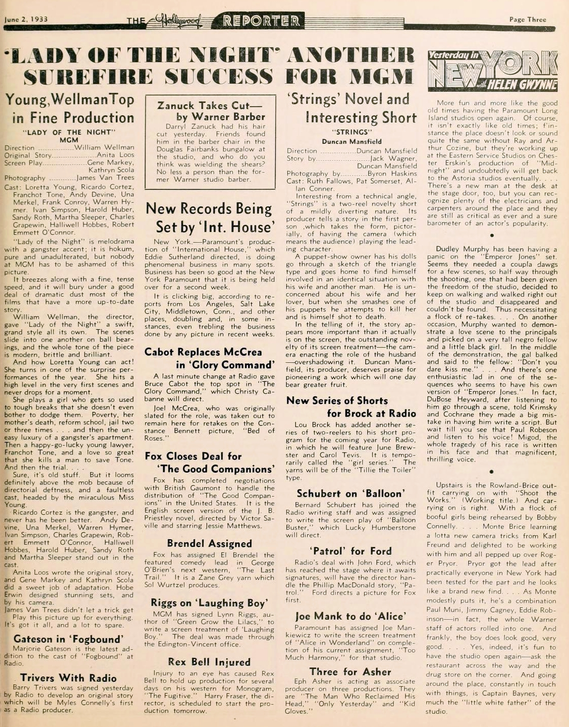 loretta young hollywood reporter 060233