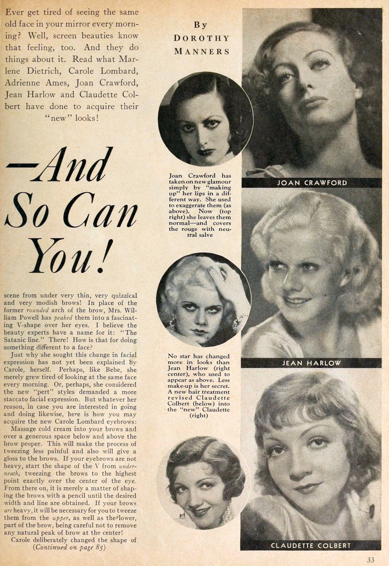 carole lombard motion picture june 1933 changed looks 01a