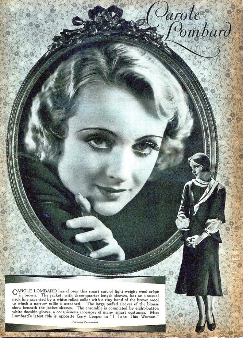 carole lombard 1931 fan magazine page larger