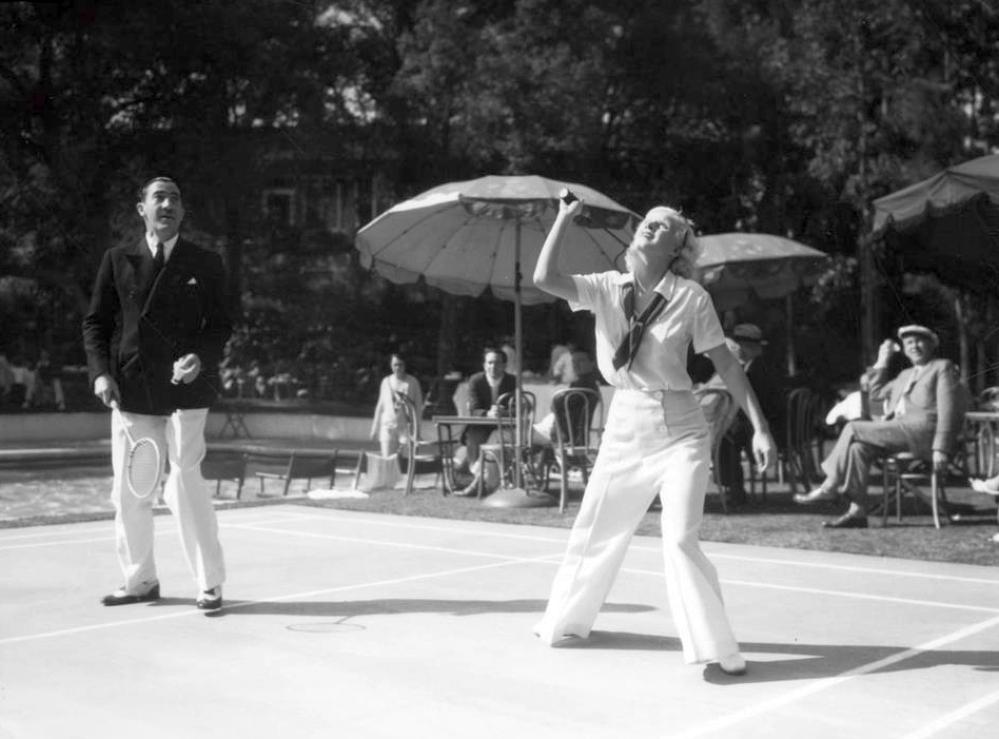 jean harlow 1930a badminton huntington hotel pasadena
