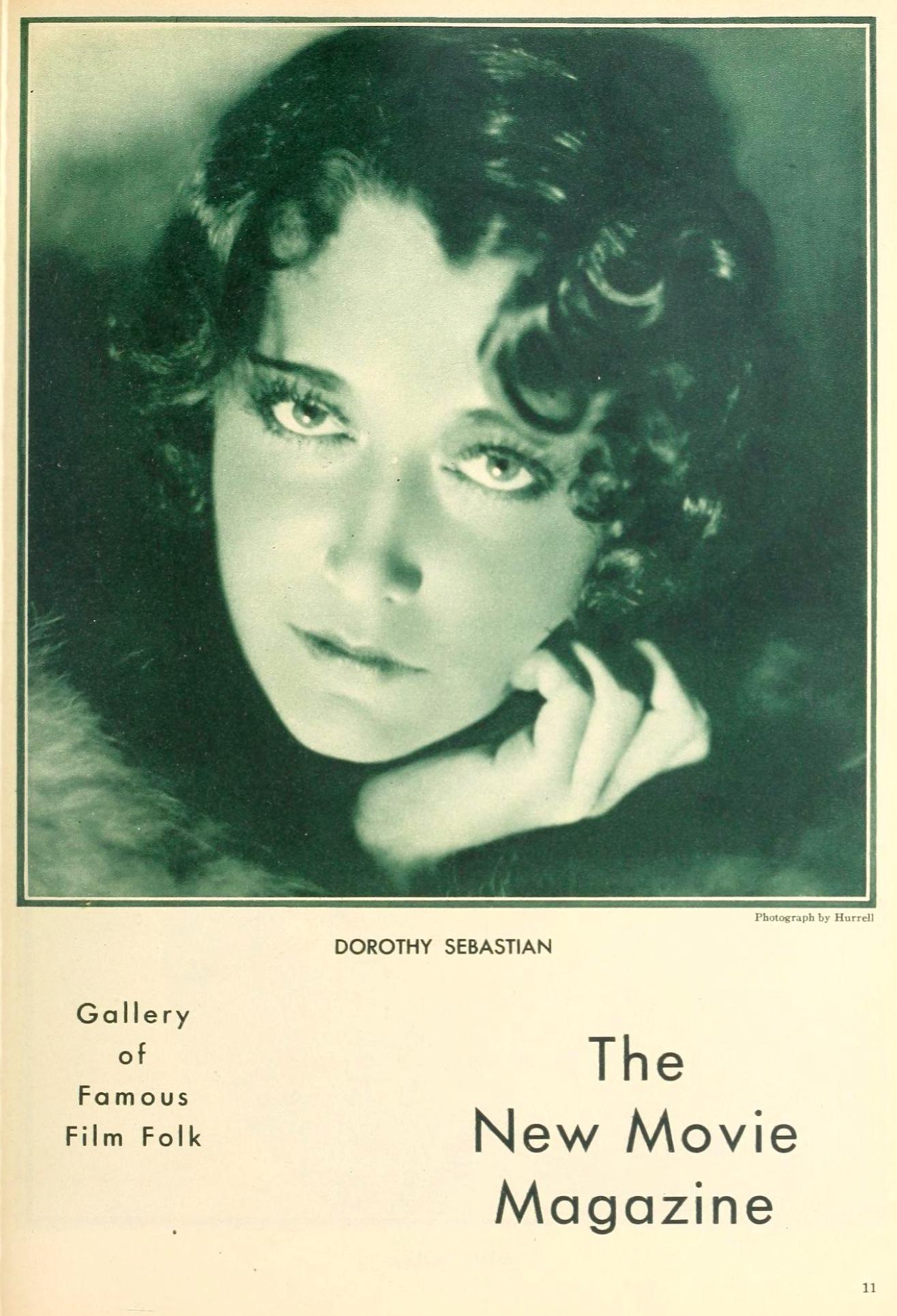 dorothy sebastian the new movie magazine april 1930a