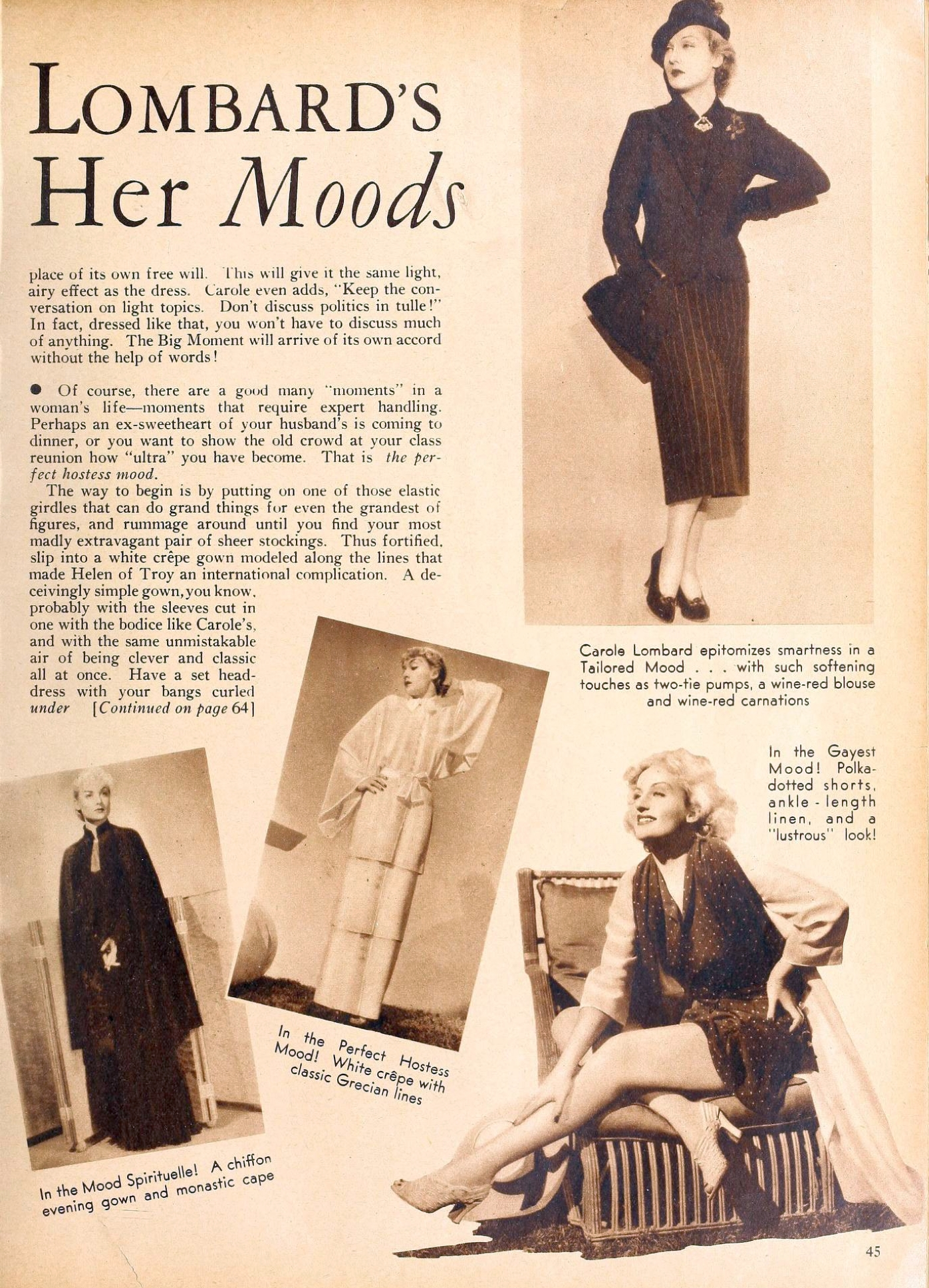 carole lombard movie classic september 1935ba