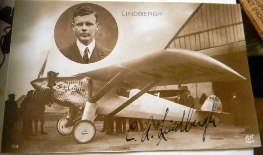 autograph charles lindbergh 00a