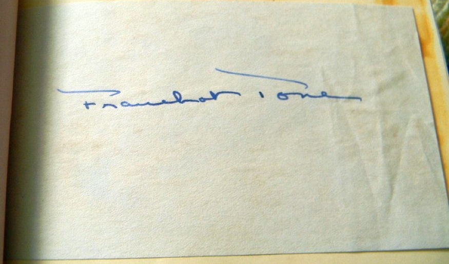 autograph franchot tone 00a