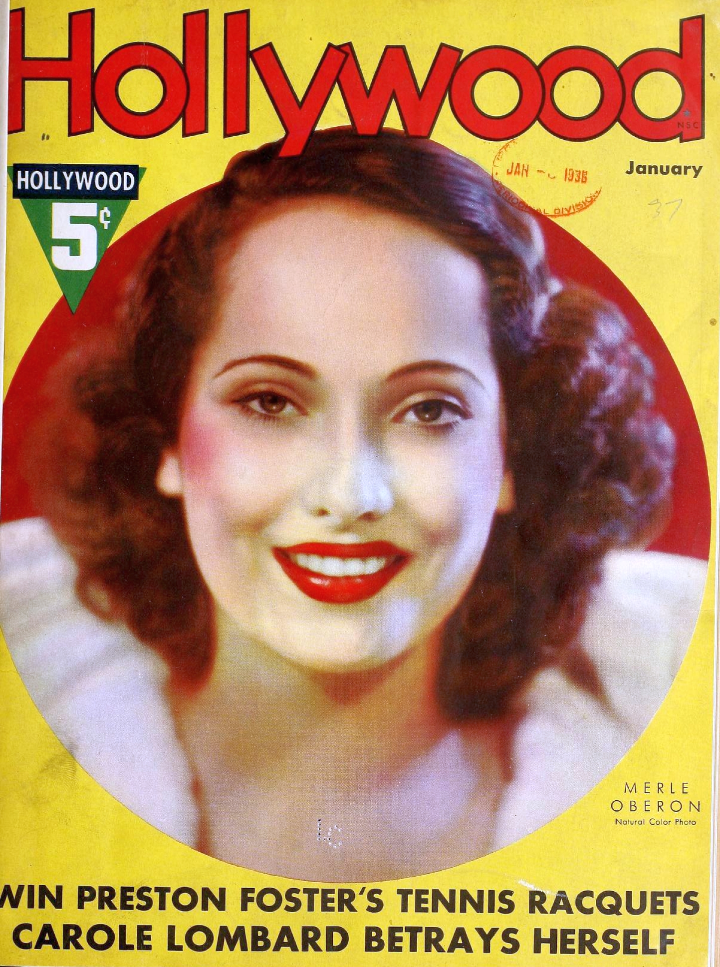 hollywood january 1937 cover large