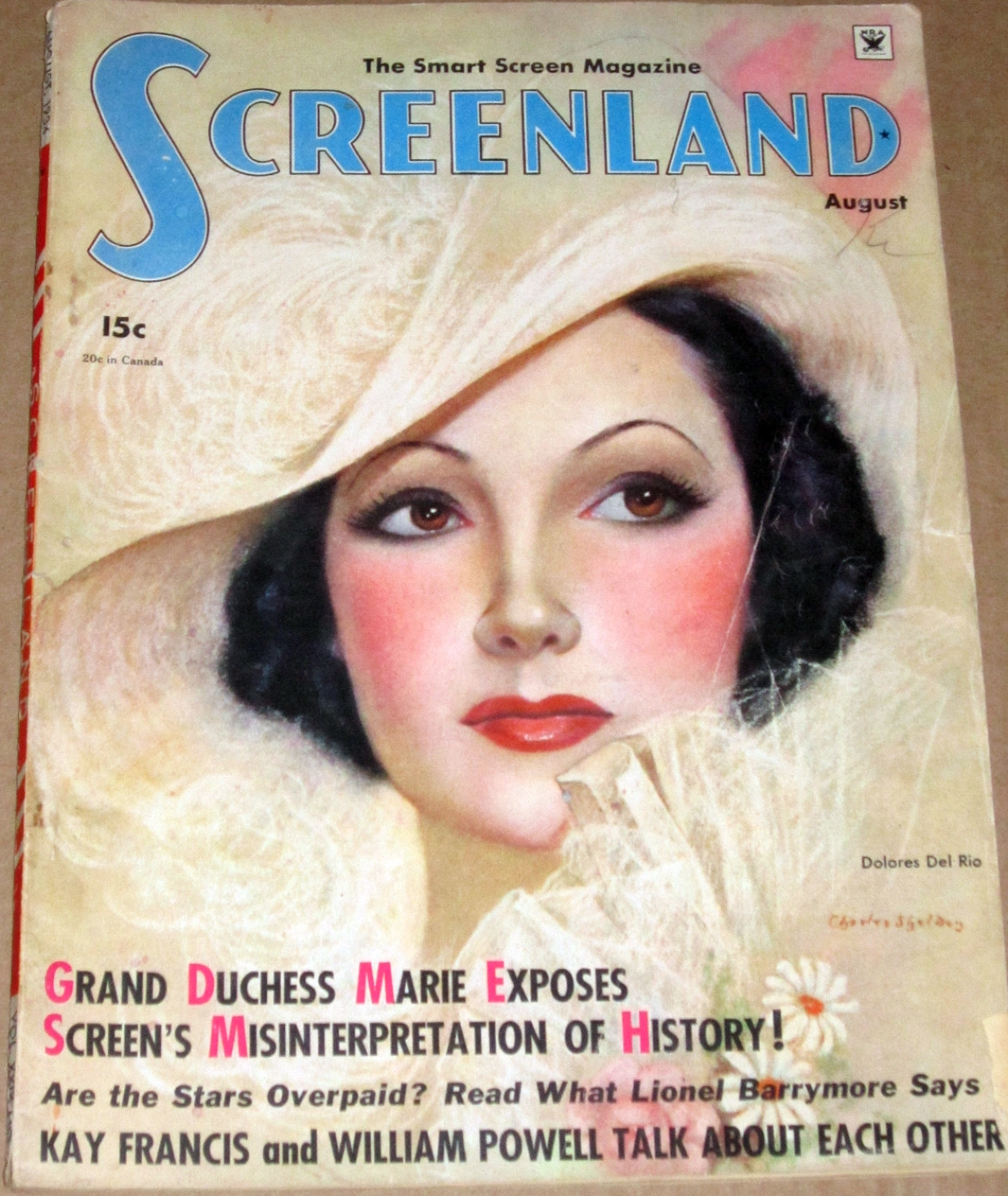 dolores del rio screenland august 1934 cover large