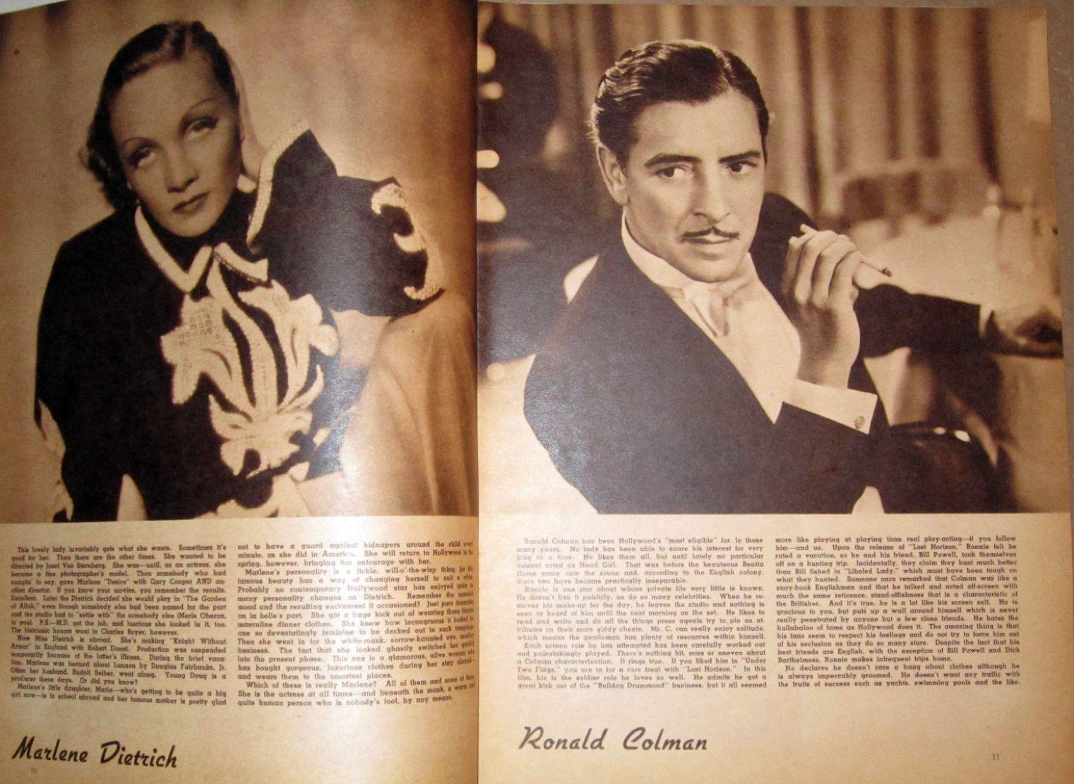 screen album for 1937 dietrich colman large