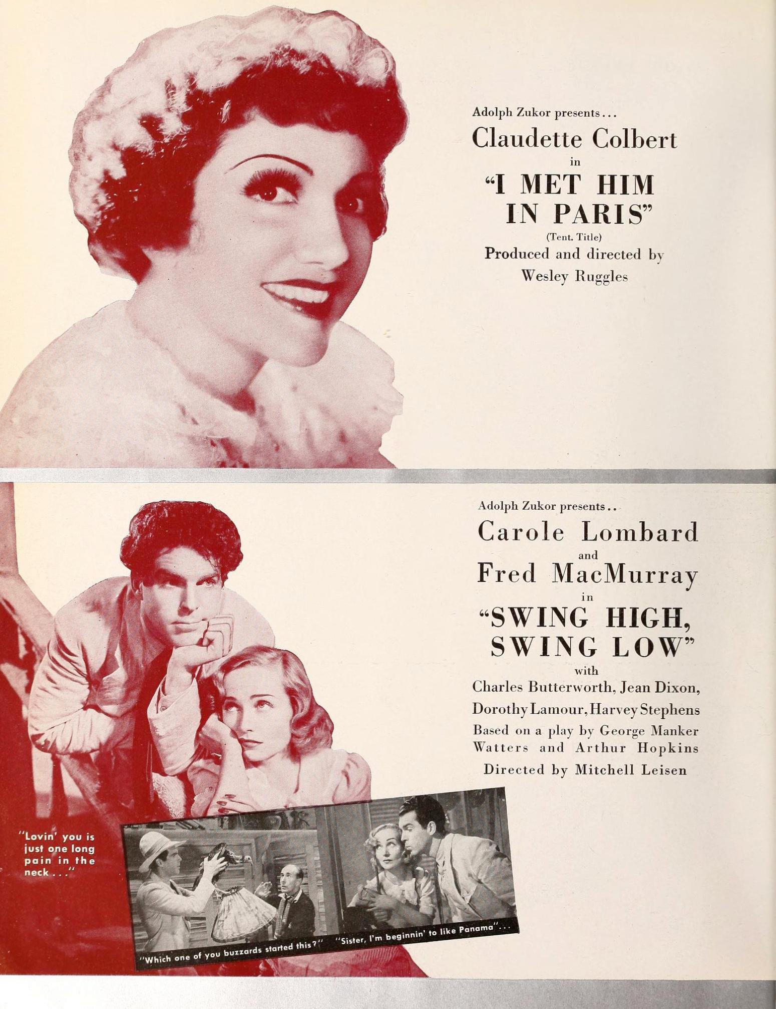 carole lombard swing high, swing low 010537a film daily