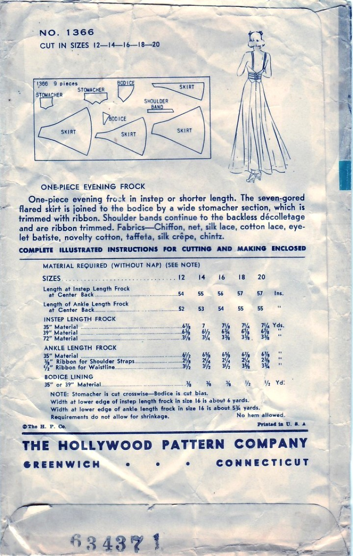 carole lombard hollywood pattern 1366ba