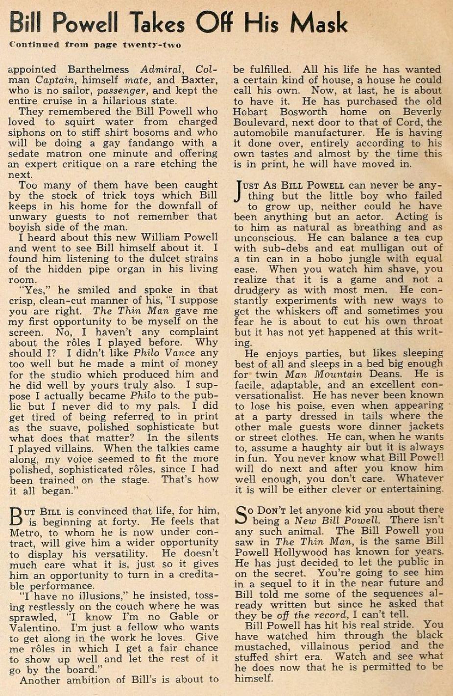 william powell hollywood february 1935ba