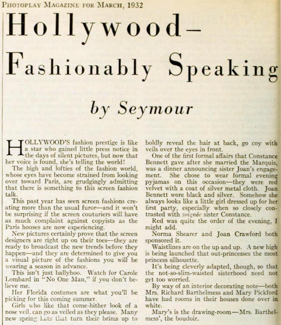 carole lombard photoplay march 1932ba
