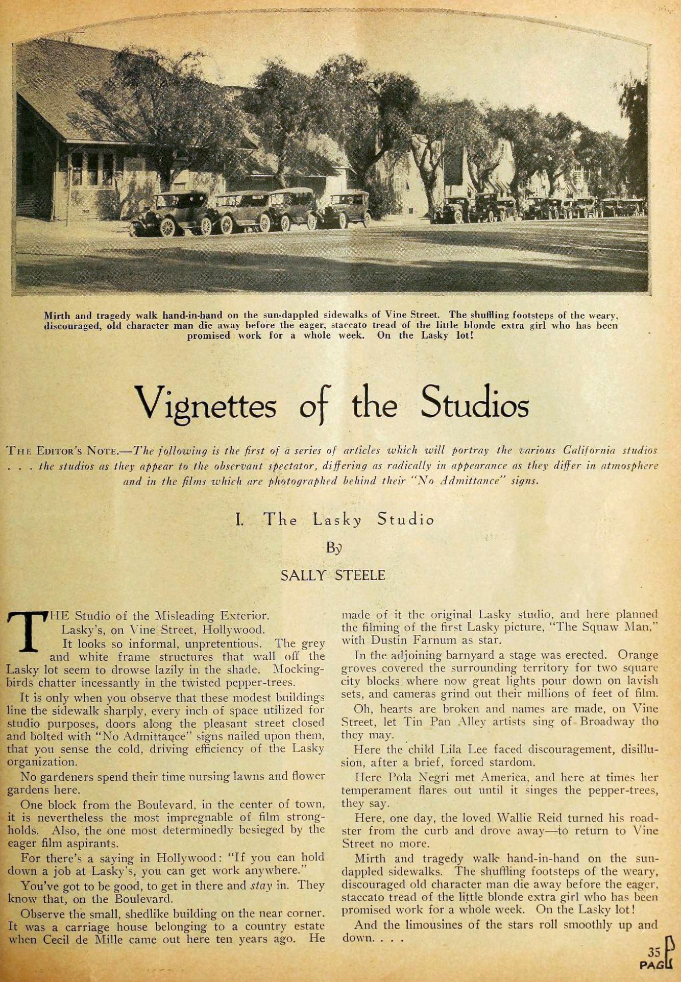 motion picture vignettes of the studios 01a lasky november 1923