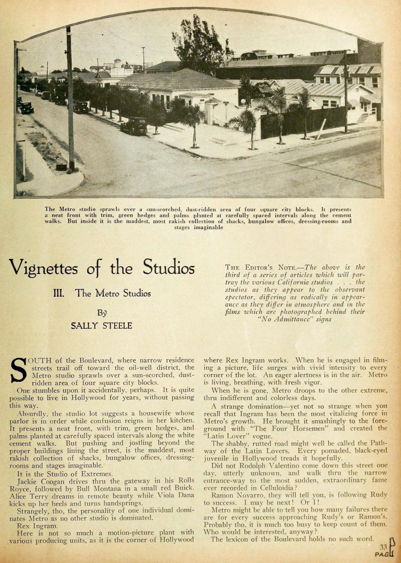 motion picture vignettes of the studios 03a metro january 1924