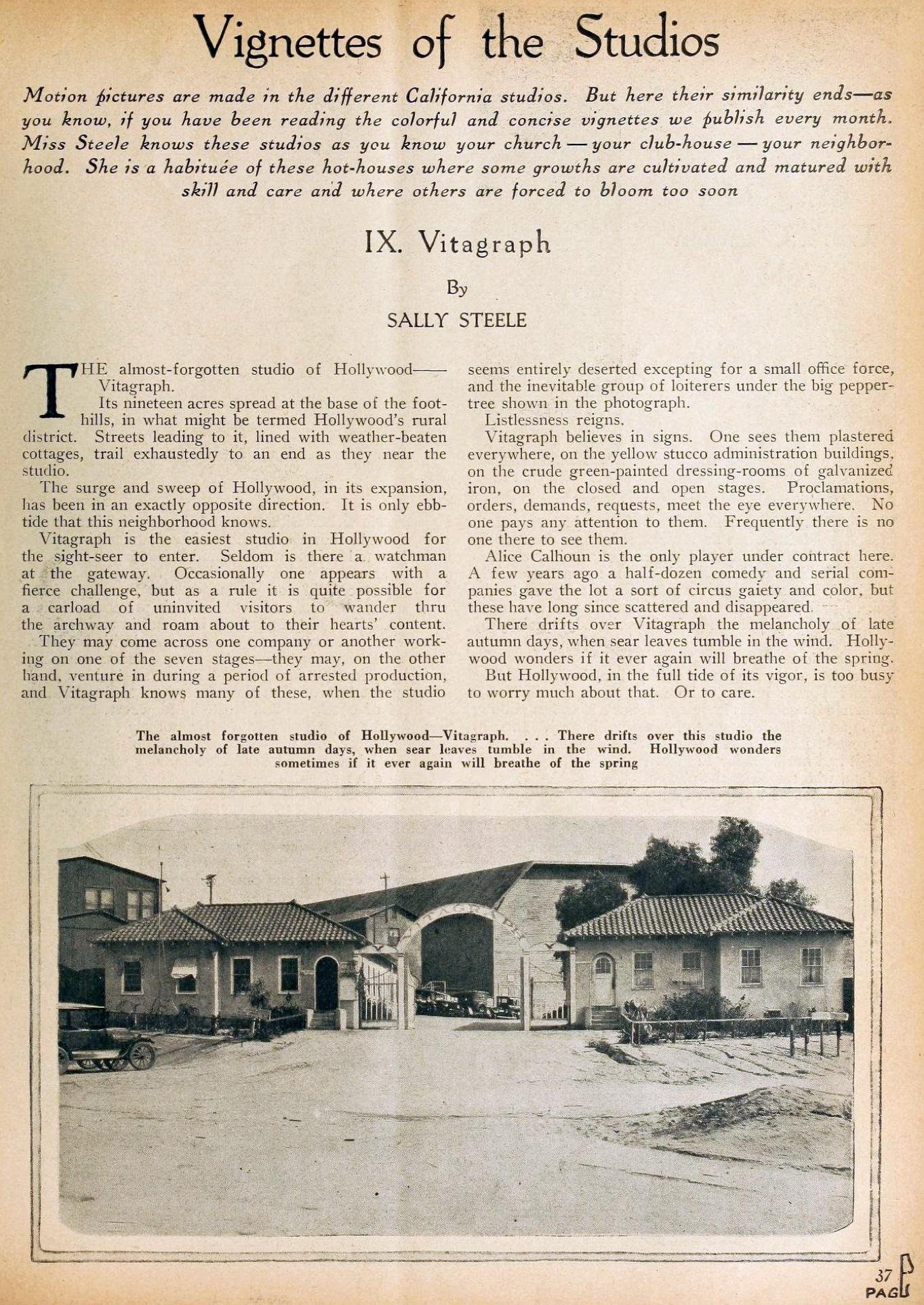 motion picture vignettes of the studios 09a vitagraph july 1924