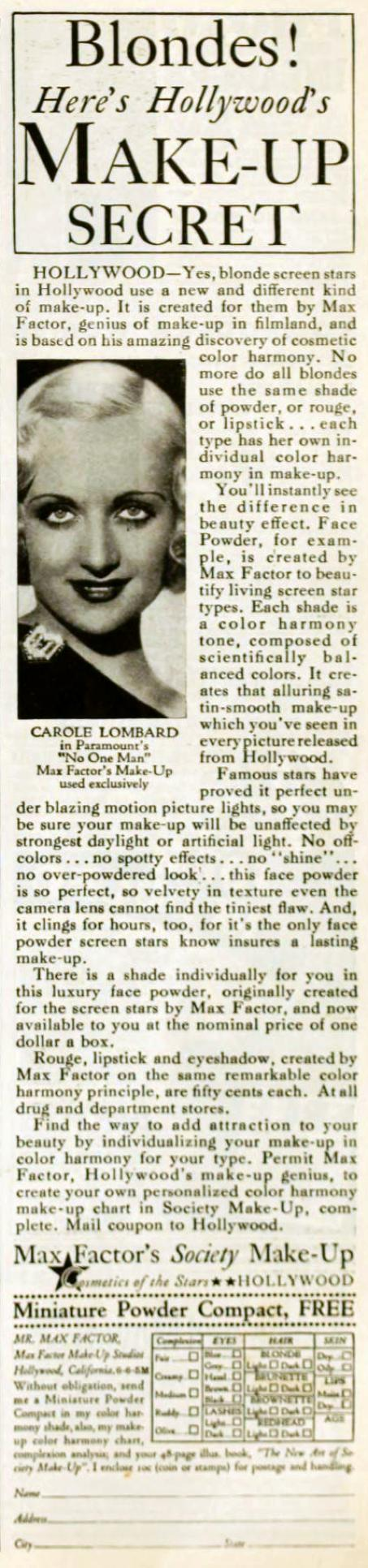 carole lombard picture play june 1932a ad