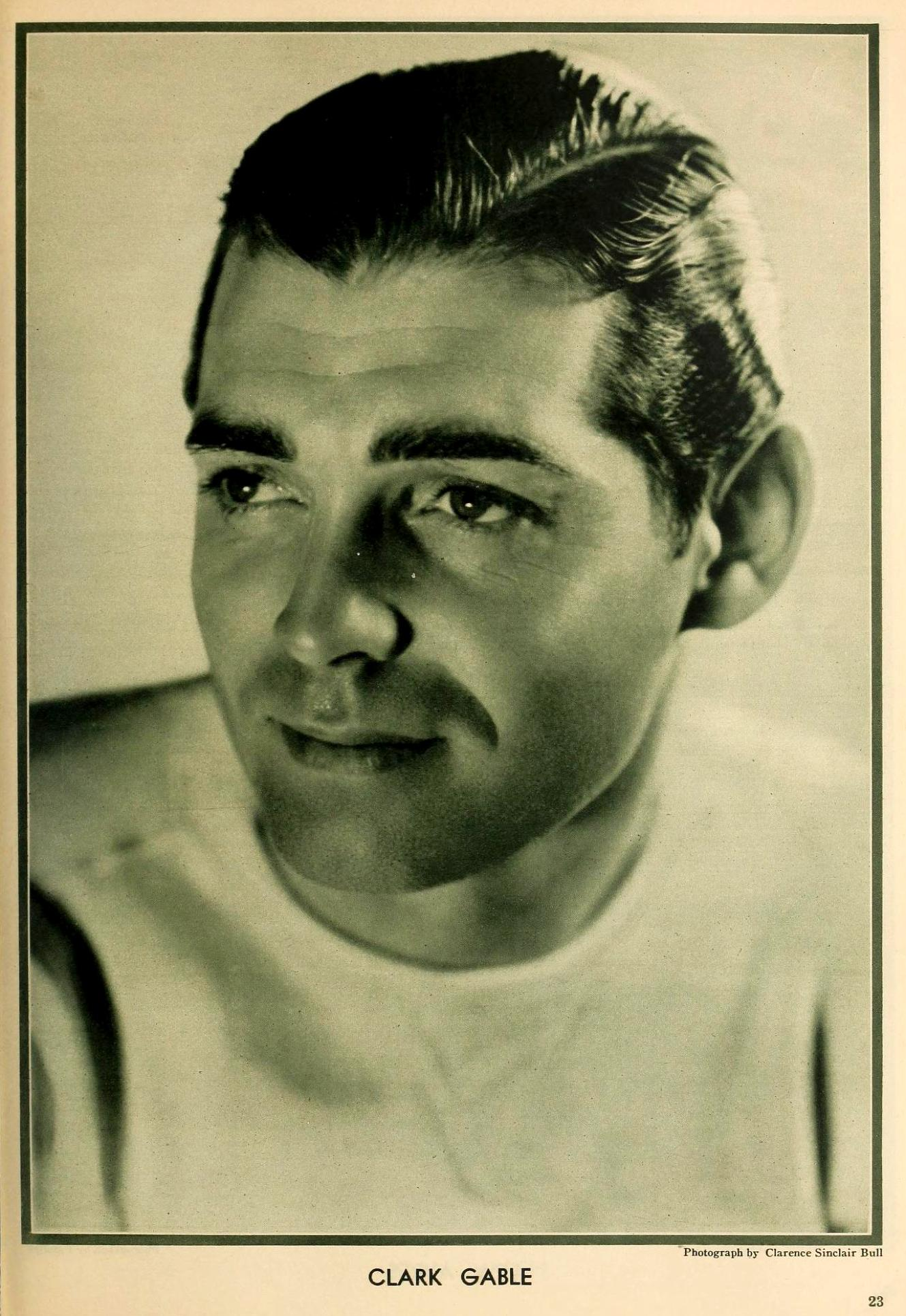 the new movie magazine august 1931 clark gable large