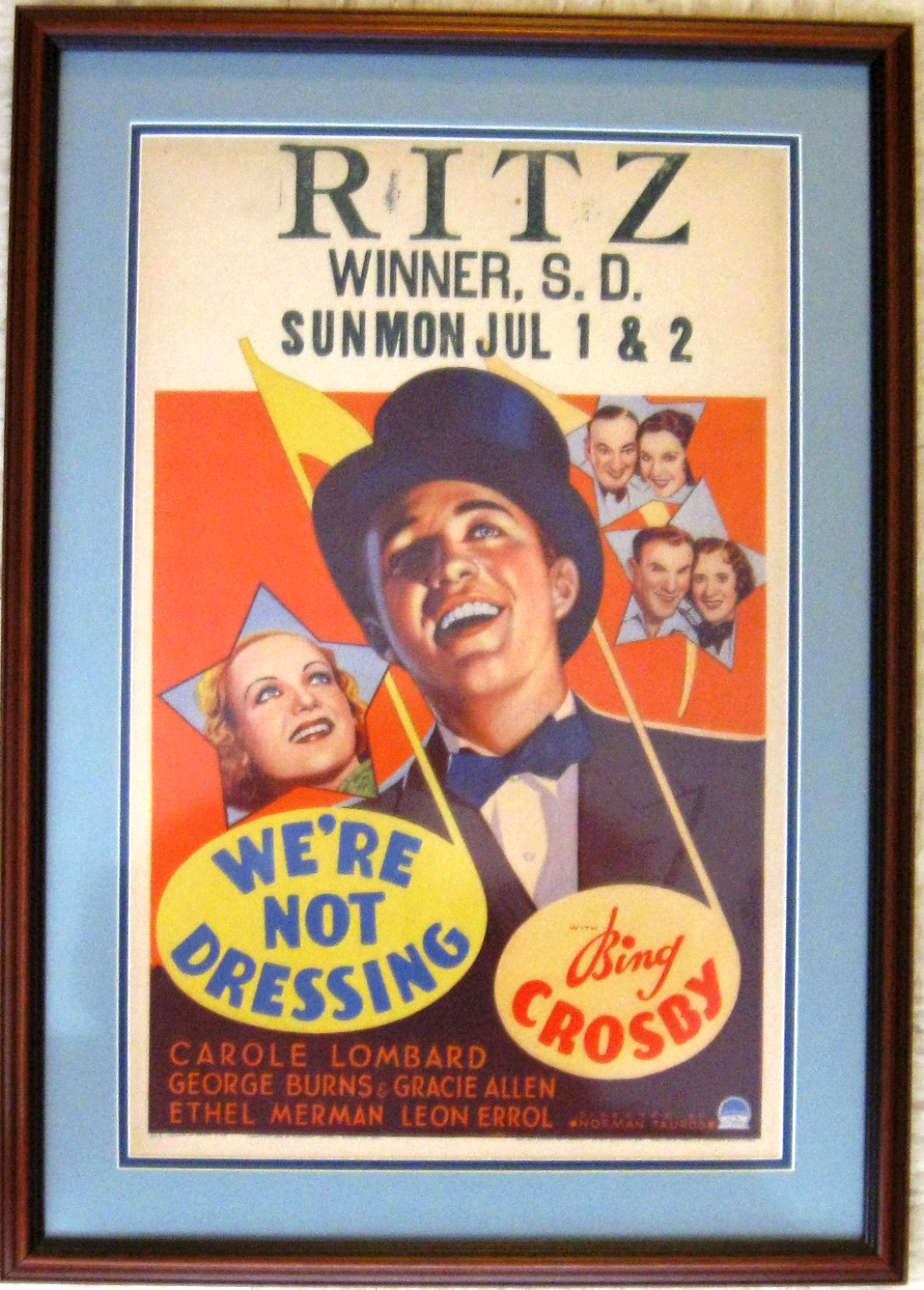 carole lombard we're not dressing window card 01a