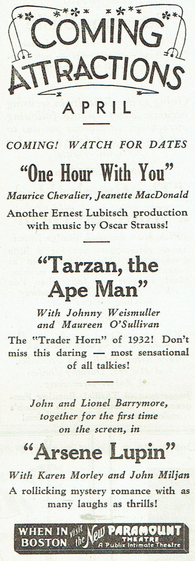 carole lombard publix theatre screen review april 1932lb