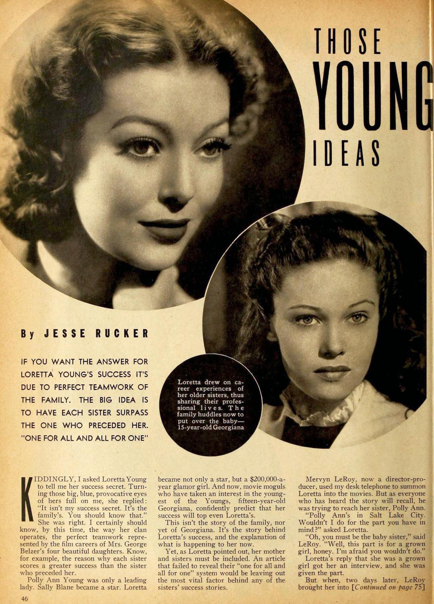 loretta young motion picture september 1940aa