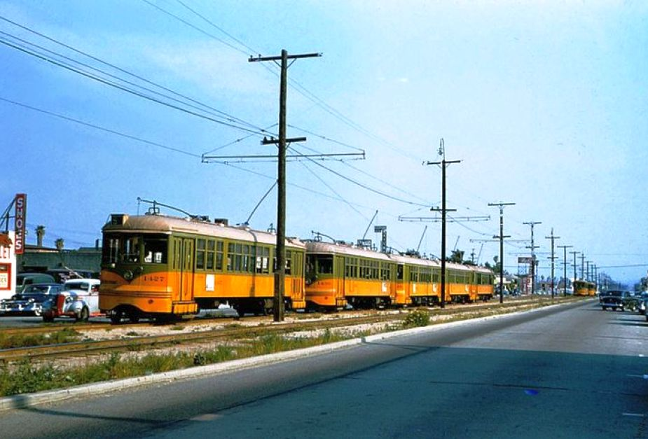 los angeles railway hollywood park 1950s large