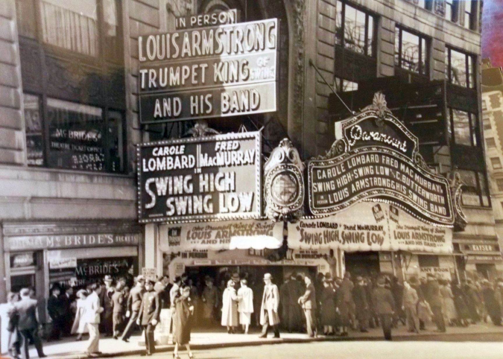 carole lombard swing high, swing low times square paramount 00c