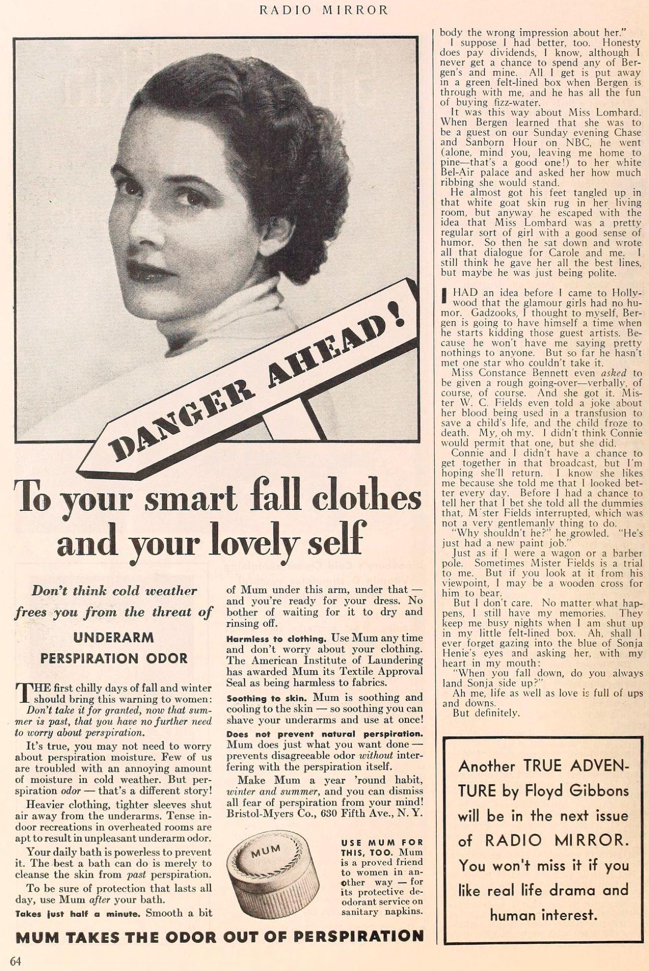 carole lombard radio mirror november 1937ea