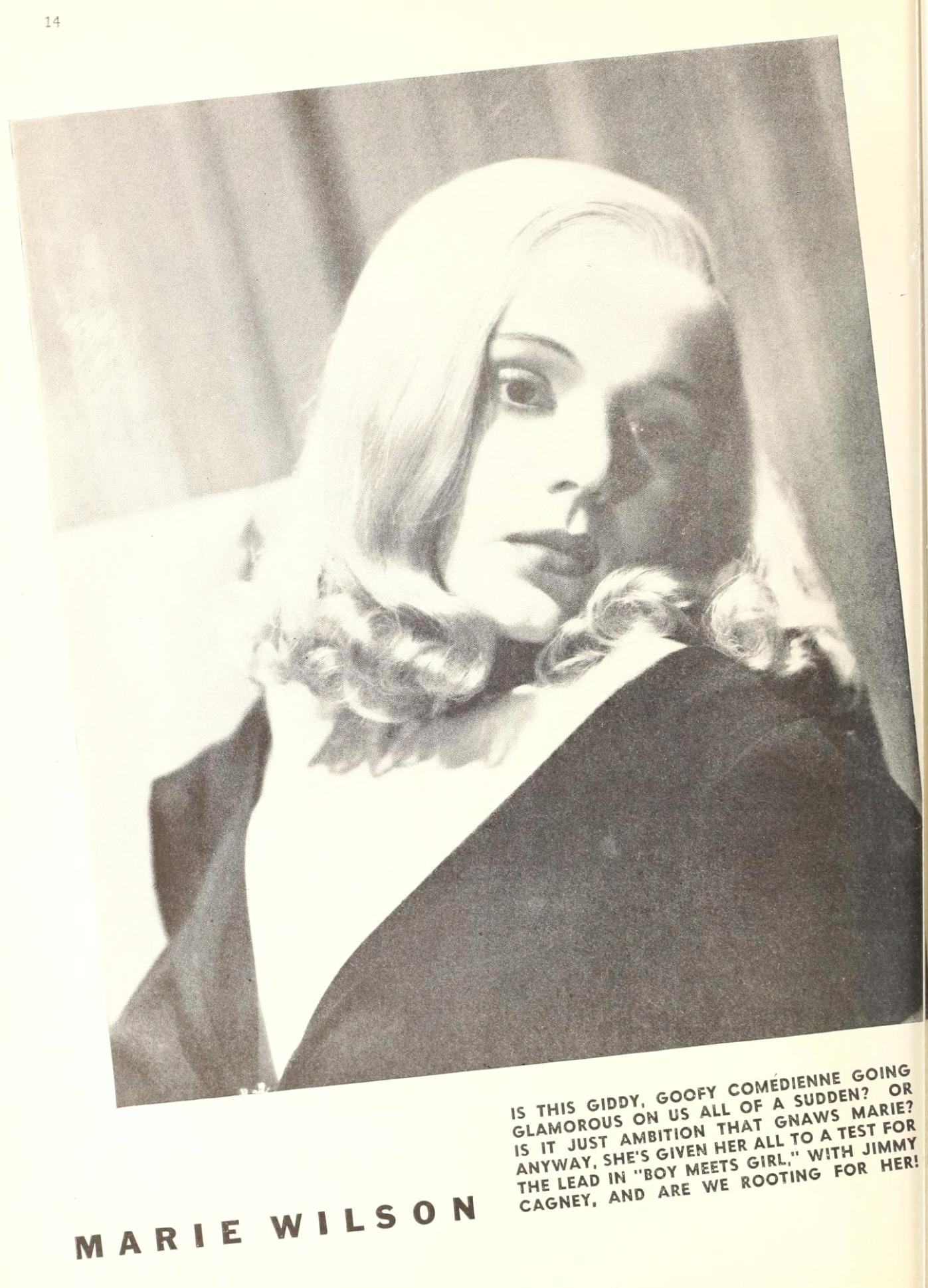 marie wilson picture play april 1938a