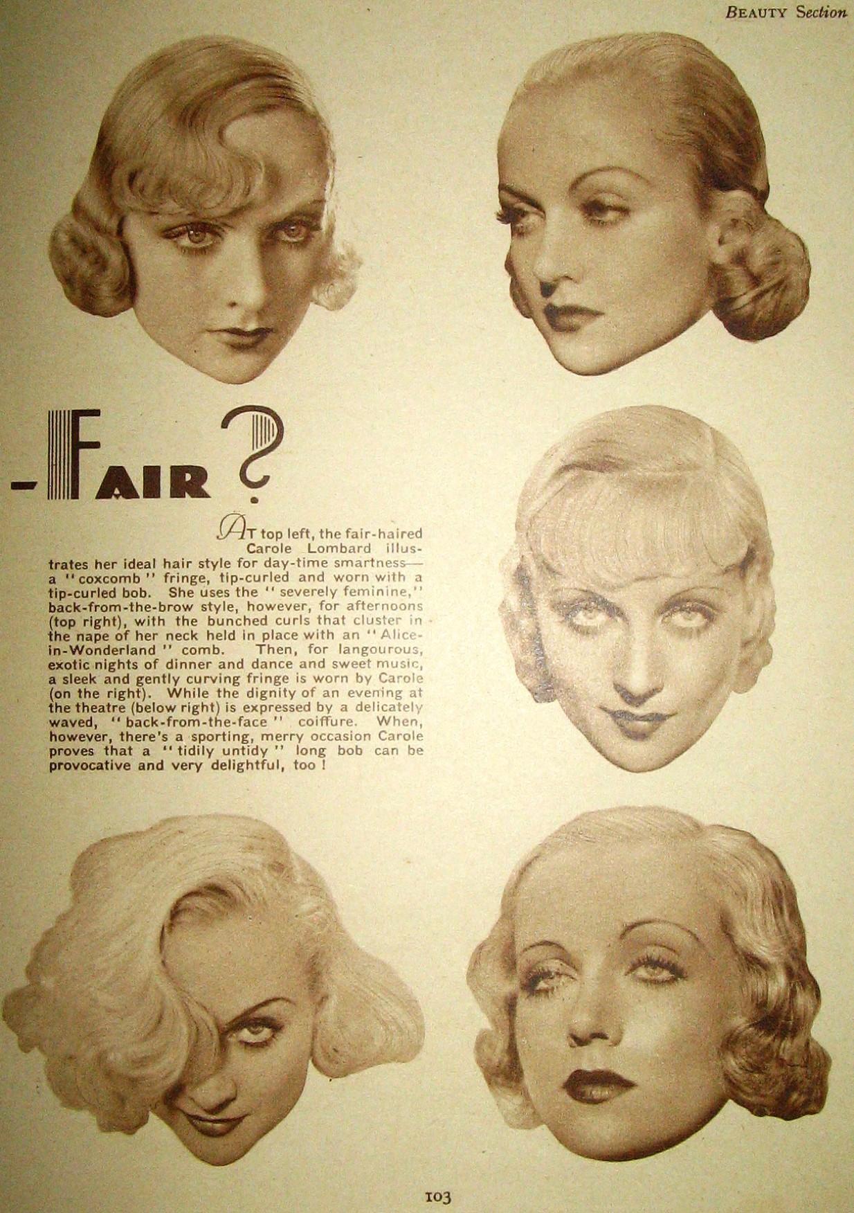 carole lombard film pictorial annual 1935ba