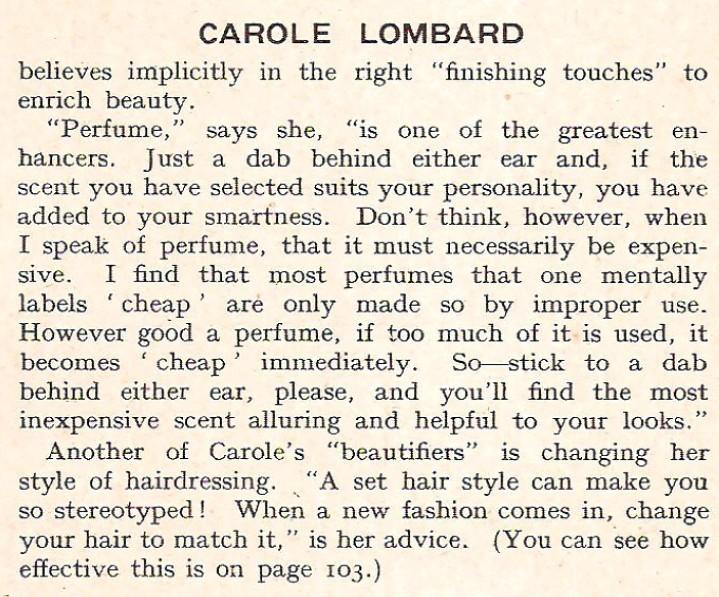 carole lombard film pictorial annual 1935dc