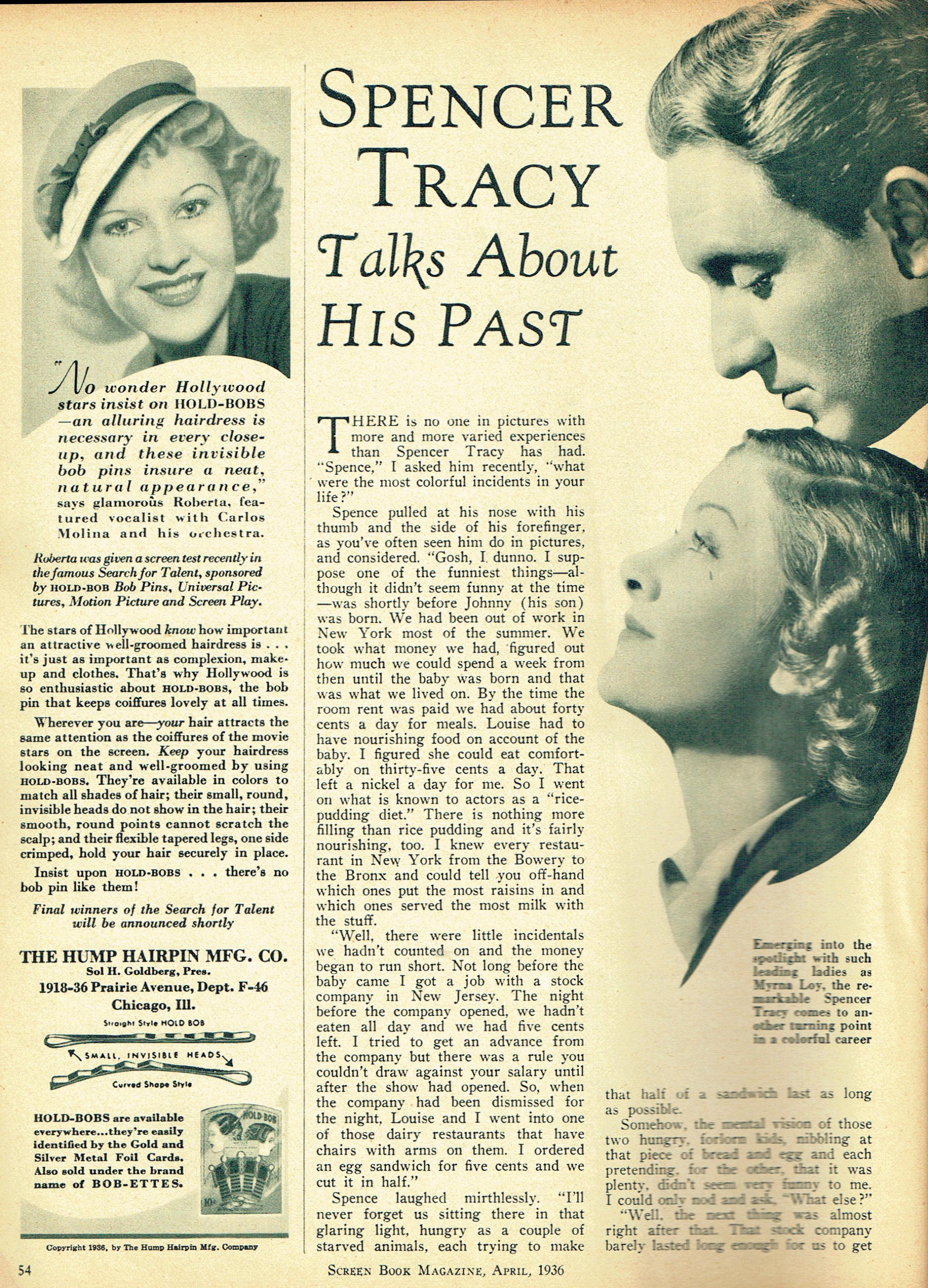 carole lombard screen book april 1936r